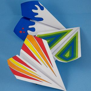 Color and Fold Paper Airplanes
