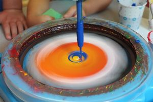 Kids STEM: Spin Art