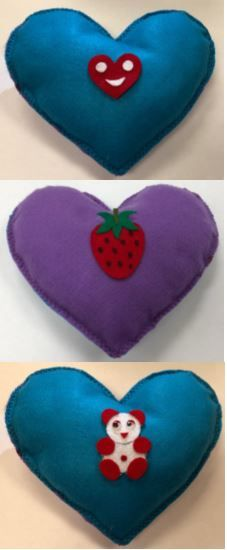 Heart-Shaped Felt Pi