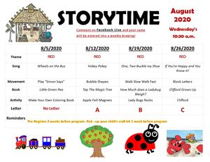 August 12 STORYTIME