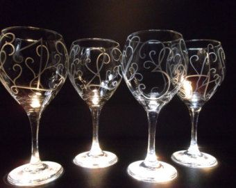 Wine Glass Etching N