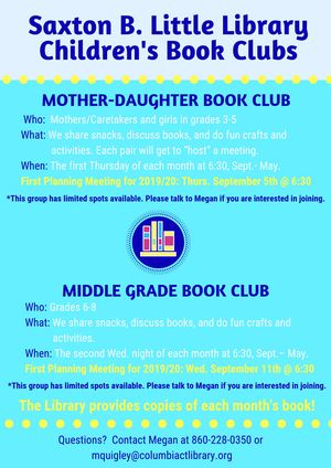 Middle Grade Book Cl